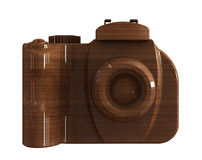 Mahogany wood DSLR camera Royalty Free Stock Photo