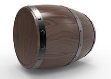 Mahogany wooden barrel Stock Images