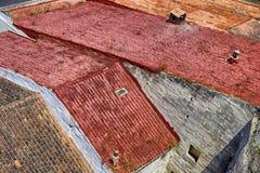 Mahon-Dachspitzen Stockfotos