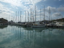 Mahon Harbour Reflections Royalty Free Stock Photos