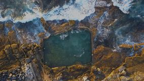 Mahon pool aerial view stock video footage