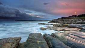 Mahon Pool and Maroubra with incoming storm Royalty Free Stock Photos