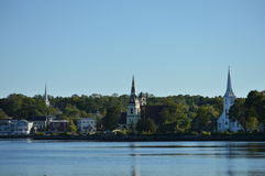 Mahone Bay Nova Scotia Stock Photo