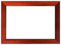 Mahoniowa obrazek rama odizolowywająca na białym kolorze zdjęcie stock