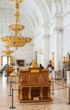 Mahoniowy biuro imperatorowa Catherine II, erem, St Petersbur zdjęcie royalty free