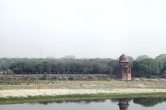 Mahtab bagh μια άποψη από Taj Mahal Στοκ εικόνα με δικαίωμα ελεύθερης χρήσης