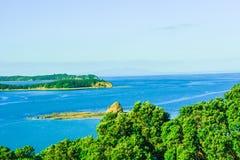 Вид на море Новая Зеландия парка Mahurangi региональный Стоковое Изображение