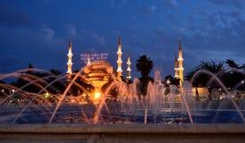 Mahya blu del Ramadan della moschea immagine stock