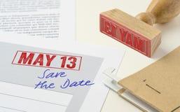 13 mai Images libres de droits