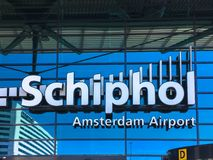 15 mai 2018 Aéroport de Schiphol, Amsterdam, Pays-Bas Images stock