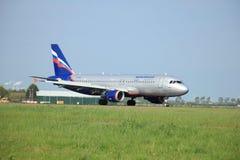 Mai, 11. 2015, Amsterdam die Niederlande: VP-BWE Aeroflot - Rus Lizenzfreie Stockfotos