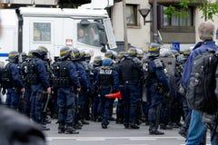 Mai 2018 - Anti-Macron-Protest in Paris stockfotos