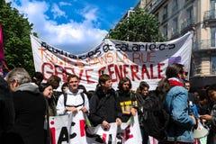 Mai 2018 - anti protestation de macron à Paris images stock