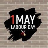 1. Mai Arbeitstagesplakat oder -fahne Auch im corel abgehobenen Betrag Stockfotografie