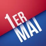 1. Mai auf französisch: MAI 1er Lizenzfreies Stockfoto