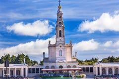13 mai célébration Mary Basilica de Madame de chapelet Fatima Portugal Image libre de droits