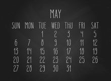 Mai 2018 calendrier Photo stock