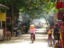 Mai Chau i morgonen Arkivbild
