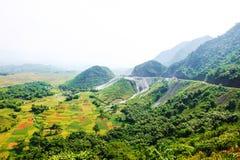 Mai Chau Valley, de provincie van Hoa Binh, Vietnam stock afbeeldingen