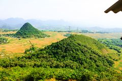 Mai Chau Valley, Hoa Binh Provinz, Vietnam Lizenzfreies Stockbild