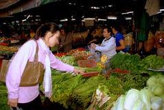 Mai Chiang, TH: Рынок продукции Songpat Стоковое Фото