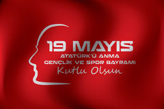19 mai commémoration de rk de ¼ d'Atatà et jour de la jeunesse et de sports Photos libres de droits