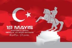19 mai commémoration de rk de ¼ d'Atatà et jour de la jeunesse et de sports Photographie stock libre de droits