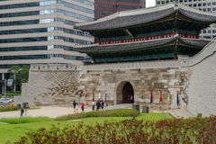 Mai 26,2016 an der Front von Namdaemun-gateSungnyemun Tor, Seoul, Lizenzfreie Stockfotos