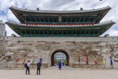 Mai 26,2016 an der Front von Namdaemun-gateSungnyemun Tor, Seoul, Lizenzfreies Stockfoto