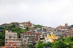 25. Mai 2017 die Küstenbergstadtlandschaft in Jioufen, Taiwa stockbilder