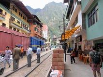 10. Mai 2016: Eine Ansicht der touristischen Stadtaguas Calientes, Nest stockfoto