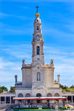 13. Mai Feier Mary Basilica von Dame des Rosenbeetes Fatima Portugal Stockfotos