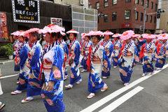 4 mai 2017 Festival de rue de Fukuoka Photo stock