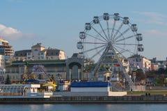 5. Mai 2016: Foto von Riesenrad herein die Tscheboksary-Bucht Chebo Stockbild