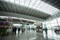 15 mai 2014 intérieur de l'Ukraine de l'aéroport international Borispol : Un nouveau terminal pour le départ des avions Sujet d'a Photographie stock