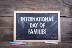15. Mai internationaler Tag des Familienkonzeptes Stockfotos