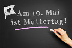 Am 10. Mai ist Muttertag! Royalty Free Stock Photos