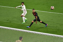 7. MAI 2017: italienisches serie A Fußballspiel AC Mailand gegen ALS Rom 1 - 4 Stockfotografie