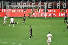 7. MAI 2017: italienisches serie A Fußballspiel AC Mailand gegen ALS Rom 1 - 4 Lizenzfreies Stockfoto