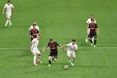 7. MAI 2017: italienisches serie A Fußballspiel AC Mailand gegen ALS Rom 1 - 4 Stockbilder