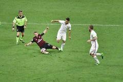 7. MAI 2017: italienisches serie A Fußballspiel AC Mailand gegen ALS Rom 1 - 4 Stockfotos