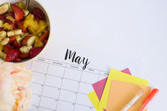 Mai-Kalender Lizenzfreie Stockfotografie