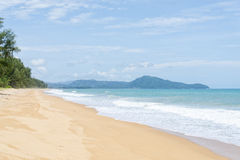 Mai Khao beach in Phuket Royalty Free Stock Image