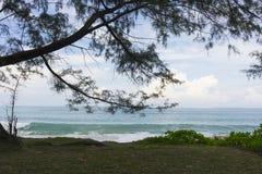 Mai Khao-strand in Phuket, Thailand Royalty-vrije Stock Afbeeldingen