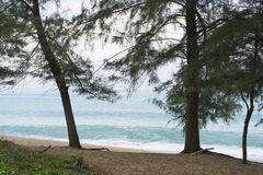 Mai Khao-strand in Phuket, Thailand Stock Afbeelding