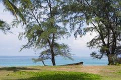 Mai Khao-strand in Phuket, Thailand Stock Afbeeldingen