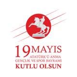 19 mai la commémoration du rk de ¼ d'AtatÃ, de la jeunesse et du jour de sports Images stock