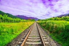 Mai la ferrovia dell'estremità Fotografie Stock Libere da Diritti