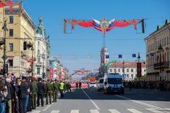 9 mai 2019, la Russie, St Petersburg Régiment immortel d'action nationale sur Nevsky Prospekt Pétersbourg Vacances de ville image stock
