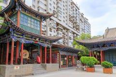 17. Mai 2017 Lanzhou China Leute und alter Bezirk in der Stadt von Lanzhou China Lizenzfreie Stockfotos